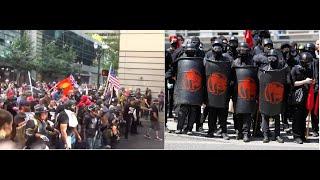 Patriots vs Antifa fighting in US and UK