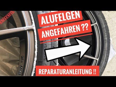 Alufelgen Reparatur selbst gemacht - Bordsteinkratzer entfernen schleifen lackieren I Tutorial