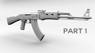 3D AK 47 Model Tutorial Maya Part 1