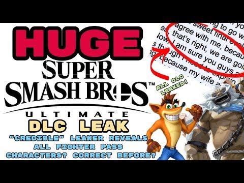 HUGE Smash Ultimate DLC Leak!