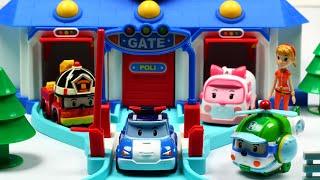 로보카폴리 변신 장난감 로보카폴리 구조 본부 Робокар Поли Игрушки Мультфильмы про машинки Roboca Poli Toys