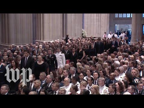 John McCain's memorial at the National Cathedral