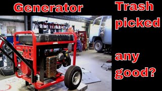 Free Portable generator, can we fix it?