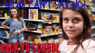 BACK TO SCHOOL SHOPPING 2018! MOM CAN'T SAY NO! WE'RE IN TROUBLE!