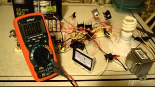 Pure Sine Wave Inverter Using 4047 with PWM on a Breadboard