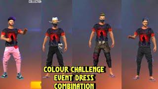 Freefire Colour Challenge Event Dress Combination|best Dress Combination With Colour Challenge Event