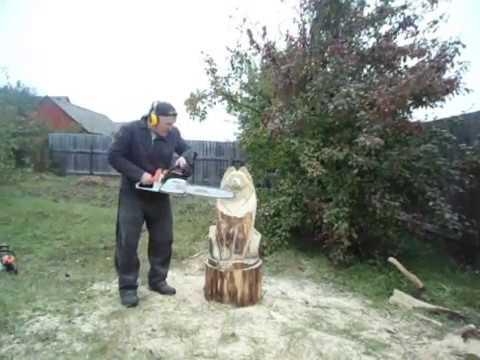 , title : '.Мини мастер класс - Волк - 1 Хобби резьба по дереву скульптура !'