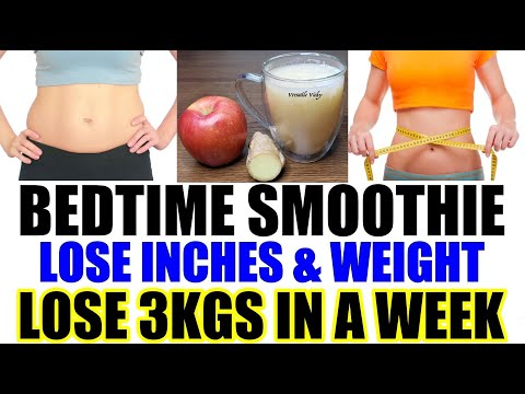 Bedtime Drink For Weight Loss   Lose 3Kg In a Week   Bedtime Smoothie For Weight Loss