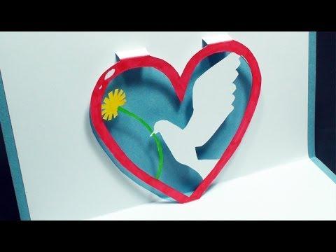 Coração com Pomba