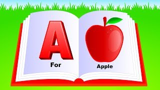 Learn Alphabet A to Z | ABC Preschool Book Learning A for APPLE Phonetics