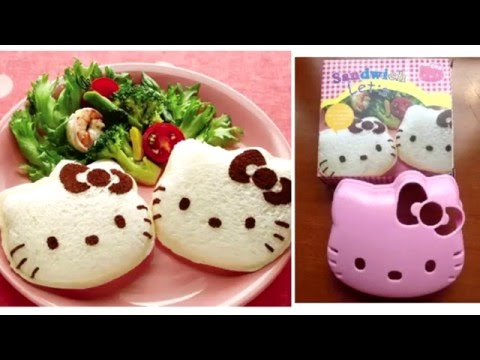Video Resep Kue Nobi : Cara Membuat Sandwich Hello Kitty