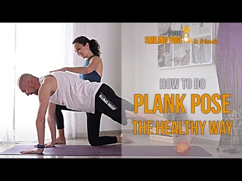 Video How to do plank pose the healthy way - yoga tutorial for beginners
