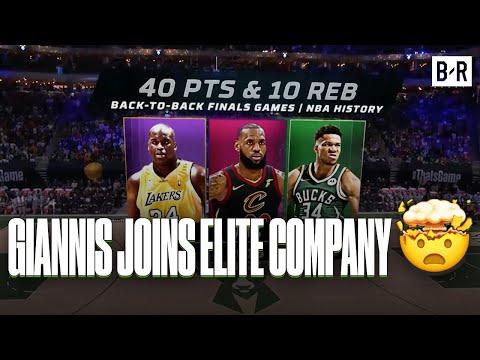 Giannis Joins LeBron James, Michael Jordan, Shaq In Unreal NBA Finals History Stats