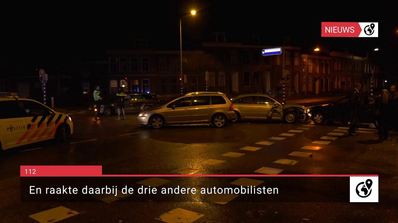 Auto's klappen op elkaar bij N314 Zutphen