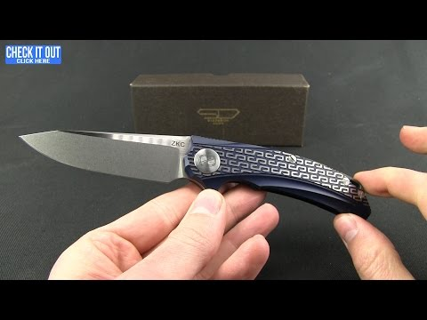 "Stedemon Knife Co. ZKC Flipper Knife Blue Milled (3.5"" Stonewash) B-01"