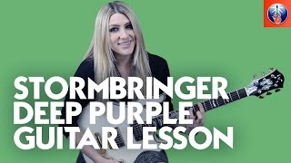 Stormbringer Deep Purple Guitar Lesson - Learn Stormbringer Chords and Riff