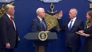President Trump Swears in James Mattis as Secretary of Defense. Jan 27. 2017
