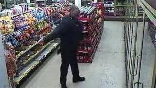 Dancing Security Guard at the Food Mart