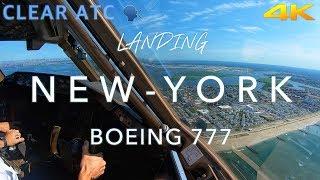 NEW YORK | BOEING 777 LANDING 4K  Summer Edition