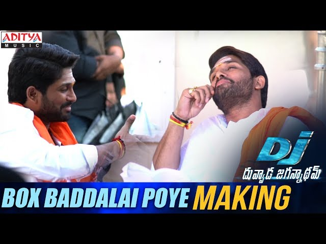 Box Baddalai Poye Song Making | DJ Duvada Jaganadam Movie Songs | Allu Arjun, Pooja