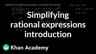 Simplifying Rational Expressions Example 2