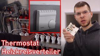 Thermostat für Fußbodenheizung anschließen