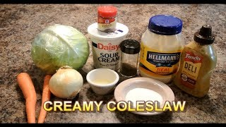 How To Make The Best Creamy Coleslaw - #RayMackStyle