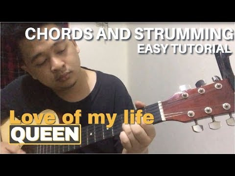 Download Love of my life - Queen | Easy Guitar Chords Tutorial Mp4 HD Video and MP3