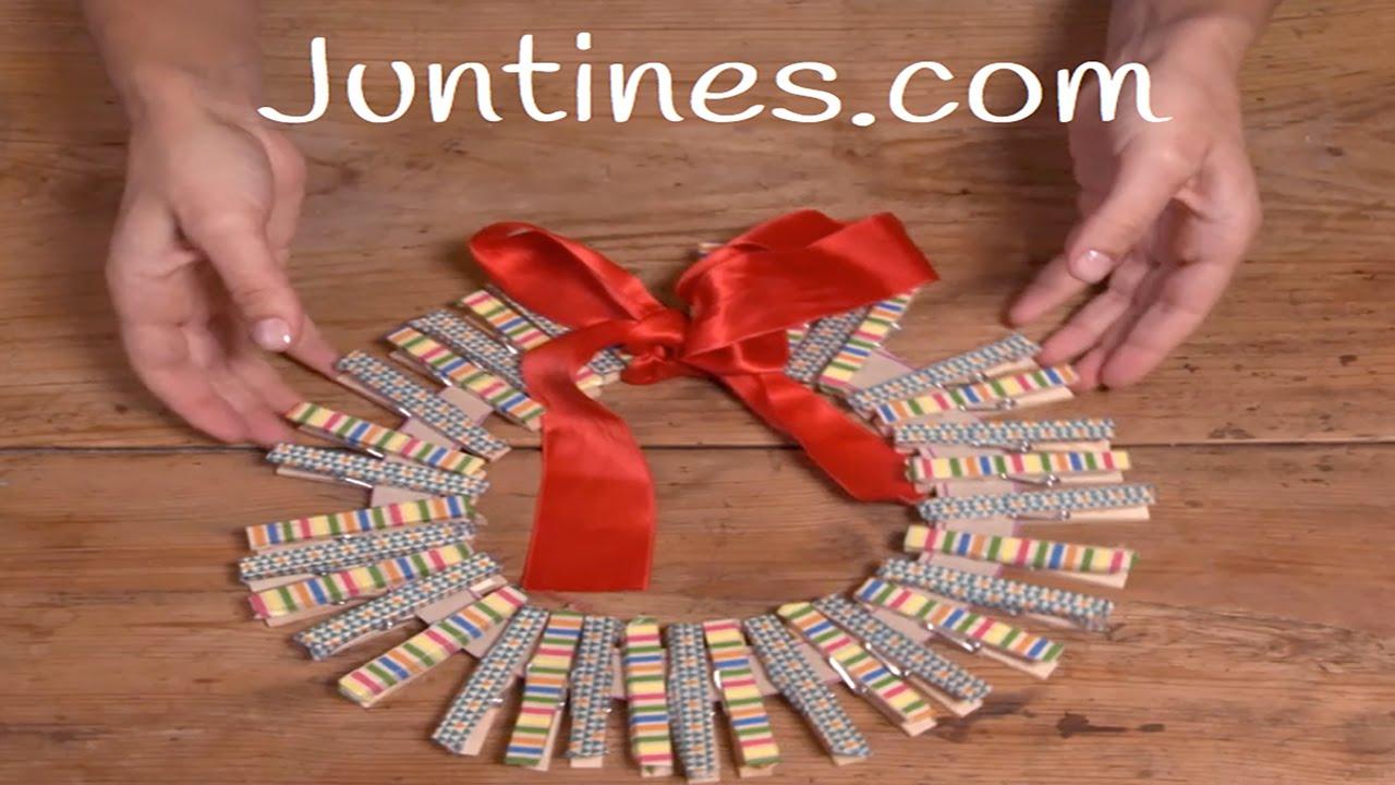 Corona navideña casera: Decoración para navidad
