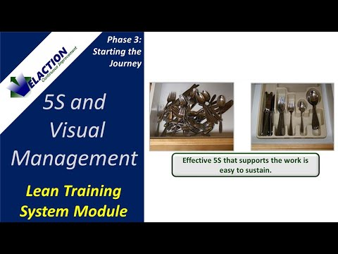 5S and Visual Management - Video #7 of 36. Lean Training System ...