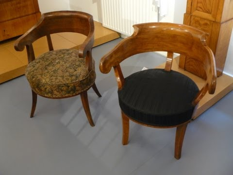 Antiquitäten: Biedermeier- Armlehnstuhl schätzen, begutachten, bewerten