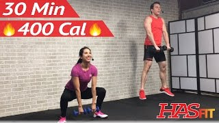 30 Minute HIIT Tabata Workout for Fat Loss & Strength: High Intensity Interval Training Home Routine by HASfit