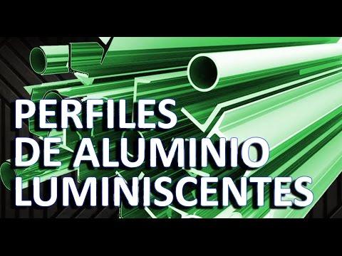 Modelos de perfiles de aluminio luminiscentes para escaleras