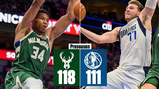 Giannis Antetokounmpo, Luka Doncic put on show in Bucks' win vs. Mavs | 2019 NBA Highlights
