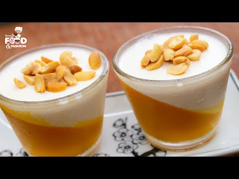 Mango Pudding Recipe || Mango Pudding Dessert || How To Make Mango Panna Cotta