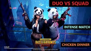 "[Hindi] PUBG Mobile   Intense ""Duo Vs Squad"" Match & Chicken Dinner"