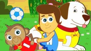 Mango's Play Time | Nursery Rhymes & Kids Songs by HooplaKidz | Courtyard At My House