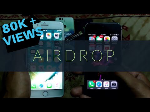 iPhone Airdrop : How to share data/photo/video/music between iPhone using Airdrop on iOS 7/8/9/10/11