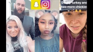 WWE Snapchat/Instagram ft. Ronda Rousey, Braun Strowman, Alexa Bliss, Naomi, Aiden English n MORE