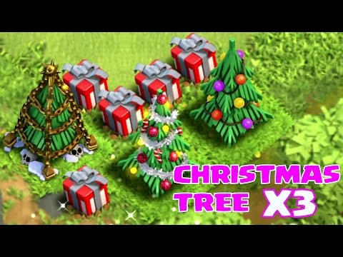 "Video CHRISTMAS TREE X3 (SPEED BUILD VR.2) ""Clash of Clans"""