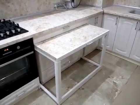 Потайной Выдвижной Стол на кухню от Артистик Дизайн Мебель для вас уважаемые клиенты.