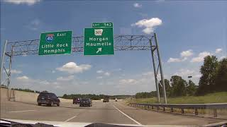 Interstate 40 Arkansas - Mile 125 to Exit 159