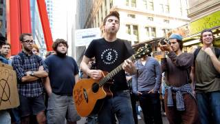 "Justin Sane Anti-Flag ""The Economy is Suffering"" at Occupy Wall Street"