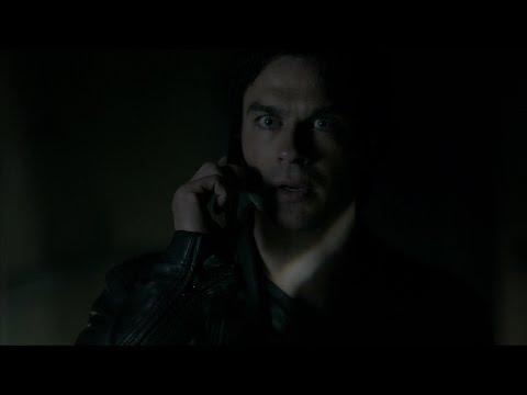 The Vampire Diaries: 7x22 - Damon hears Elena's voice in the vault (Delena kisses Flashbacks) [HD]