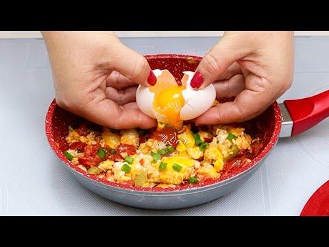 Misturado com ovos