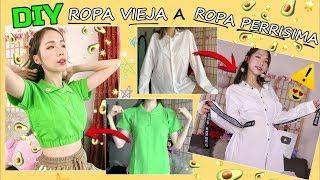 "4 DIY  ""ROPA VIEJA"" A ""ROPA DE MODA"" / TENDENCIAS VINTAGE, RETRO, AESTHETIC / ANGA NG"