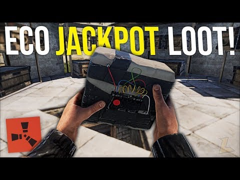 ECO RAIDING LOADED DECAYED BASE GIVES CRAZY JACKPOT LOOT - Rust Survival Gameplay (S8-E6)