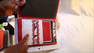 Red, Black, White Wedding Mini Album