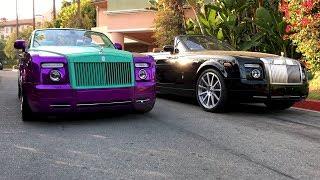 #RDBLA Crazy Purple Rolls Royce, Rodeo Dr has NEVER seen this!