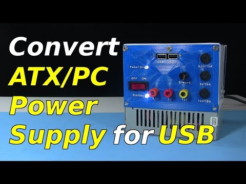 Convert ATX Computer Power Supply for USB